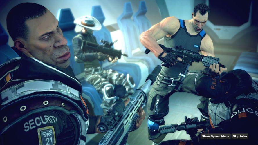 BRINK action shooter fighting warrior combat sci-fi weapon gun 1brink wallpaper