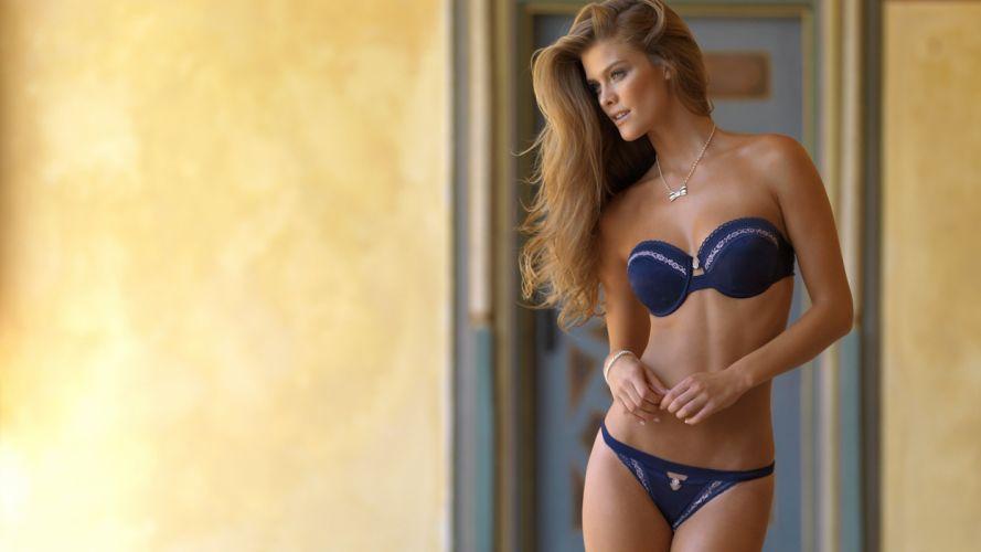 SENSUALITY - blond girl model underwear wallpaper