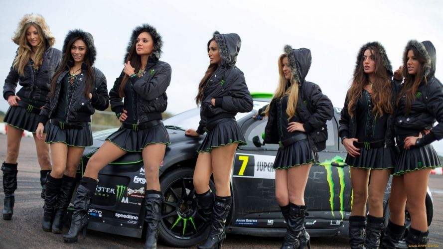 SENSUALITY - girl support group sports car wallpaper