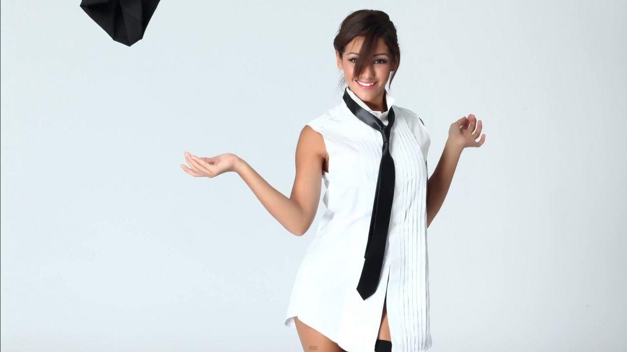 TIE WOMEN - sensuality shirt smile face tie wallpaper