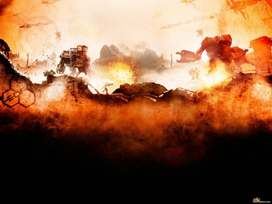 RED FACTION fps shooter action fighting warrior weapon gun combat battle 1redfaction sci-fi wallpaper