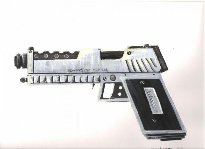 RED FACTION fps shooter action fighting warrior weapon gun combat battle 1redfaction sci-fi pistol wallpaper