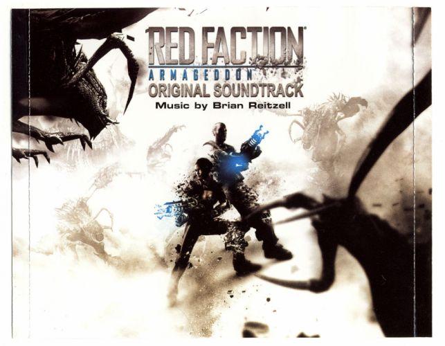 RED FACTION fps shooter action fighting warrior weapon gun combat battle 1redfaction sci-fi poster wallpaper