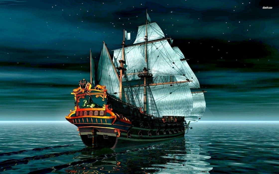 GHOST PIRATES VOOJU ISLAND adventure fantasy family pirate comedy ghost puzzle 1voojuisland ship boat wallpaper