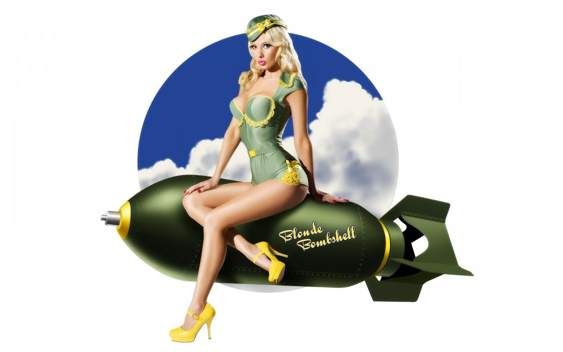 Pin Up Fly Girl Zoom 3 wallpaper