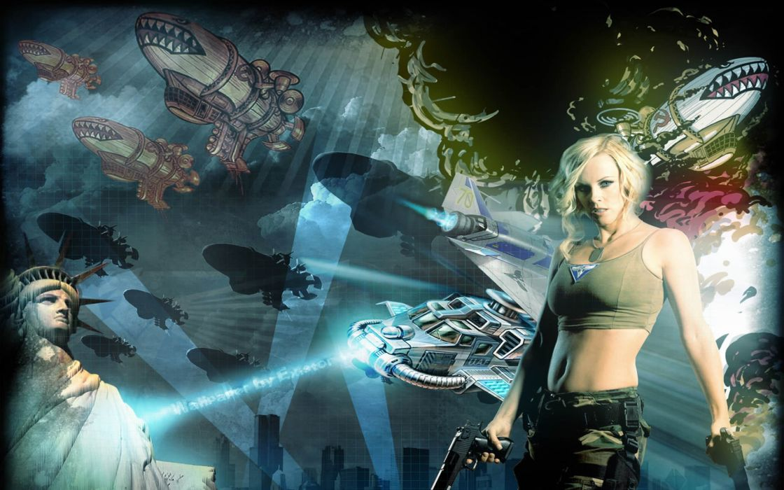 RED ALERT Command Conquer action military sci-fi futuristic strategy fighting battle combat fantasy 1redalert 1commandconquer sexy babe weapon gun cosplay wallpaper