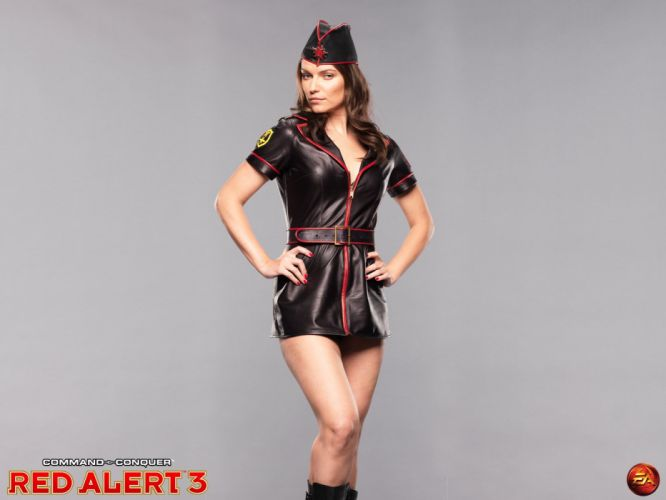 RED ALERT Command Conquer action military sci-fi futuristic strategy fighting battle combat fantasy 1redalert 1commandconquer sexy babe cosplay wallpaper