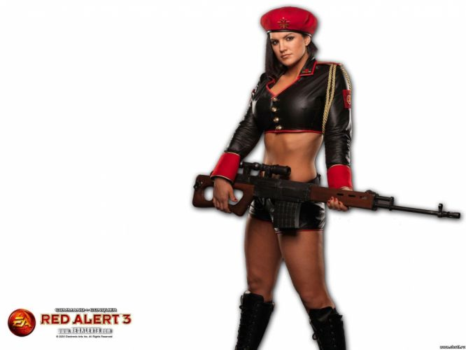 RED ALERT Command Conquer action military sci-fi futuristic strategy fighting battle combat fantasy 1redalert 1commandconquer sexy babe cosplay poster wallpaper