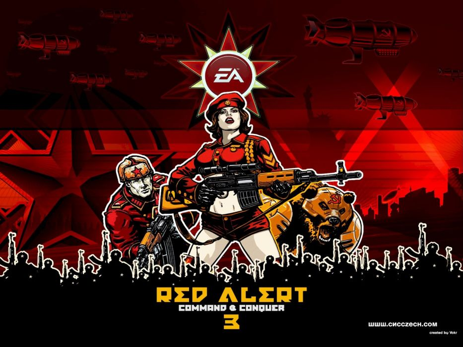 RED ALERT Command Conquer action military sci-fi futuristic strategy fighting battle combat fantasy 1redalert 1commandconquer poster weapon gun wallpaper