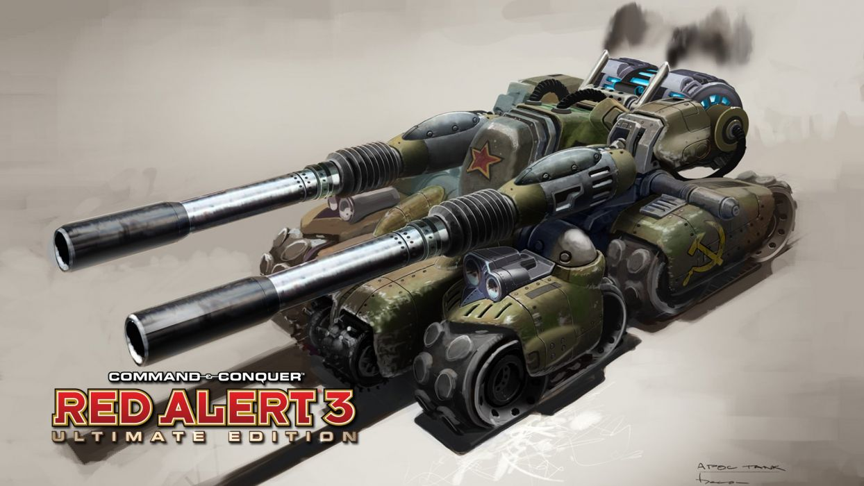 RED ALERT Command Conquer action military sci-fi futuristic strategy fighting battle combat fantasy 1redalert 1commandconquer tank weapon gun wallpaper