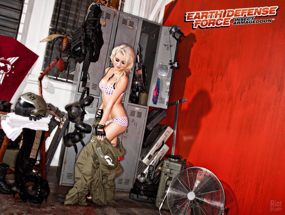 EARTH DEFENSE FORCE Chikyu Boeigun shooter action fighting sci-fi tps soldier warrior 1earthforce edf cosplay sexy babe wallpaper