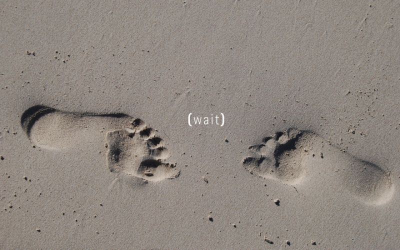 sand beach simple footprint wallpaper