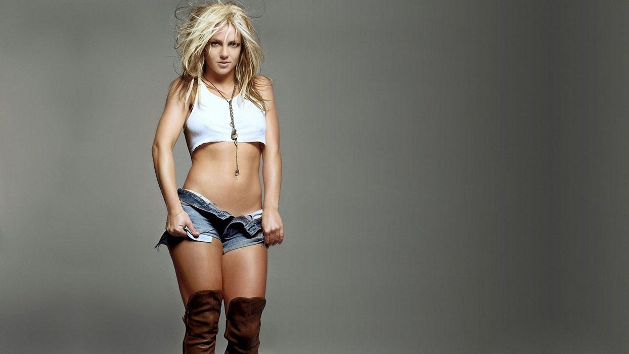 JEANS - sensuality girl short belly lovely dancer boot britney wallpaper