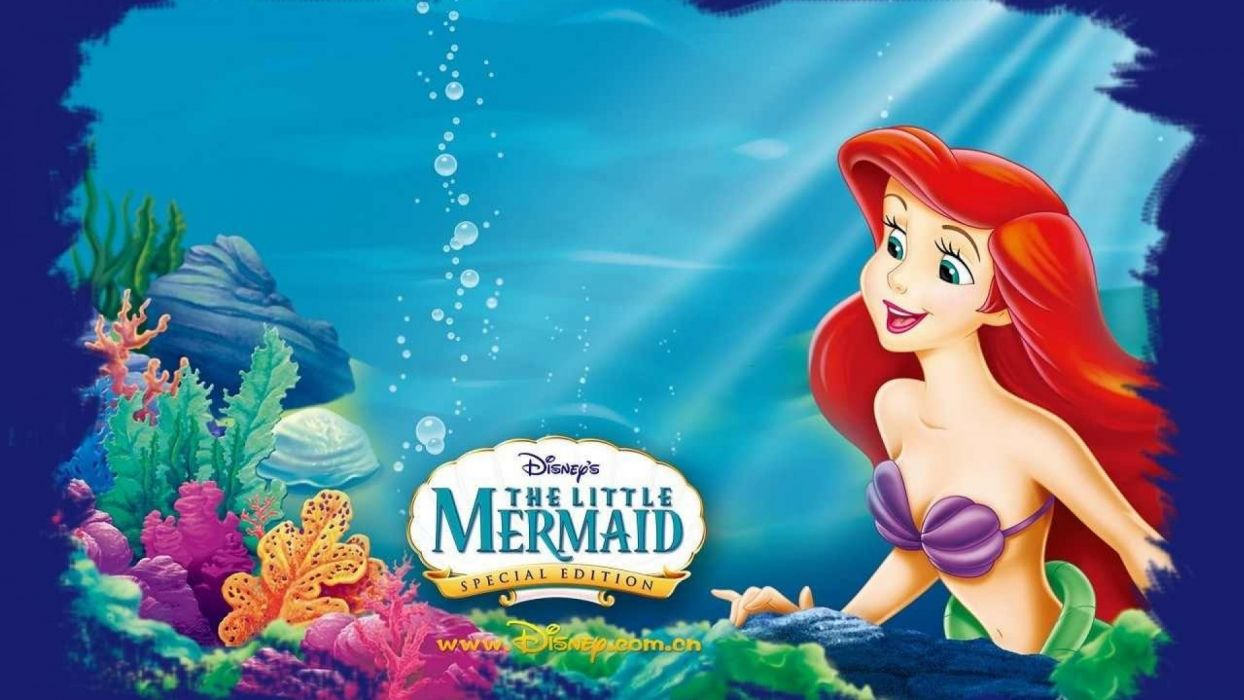 LITTLE MERMAID Disney Fantasy Animation Cartoon Adventure Family 1littlemermaid Ariel Princess Ocean Sea Underwater Wallpaper