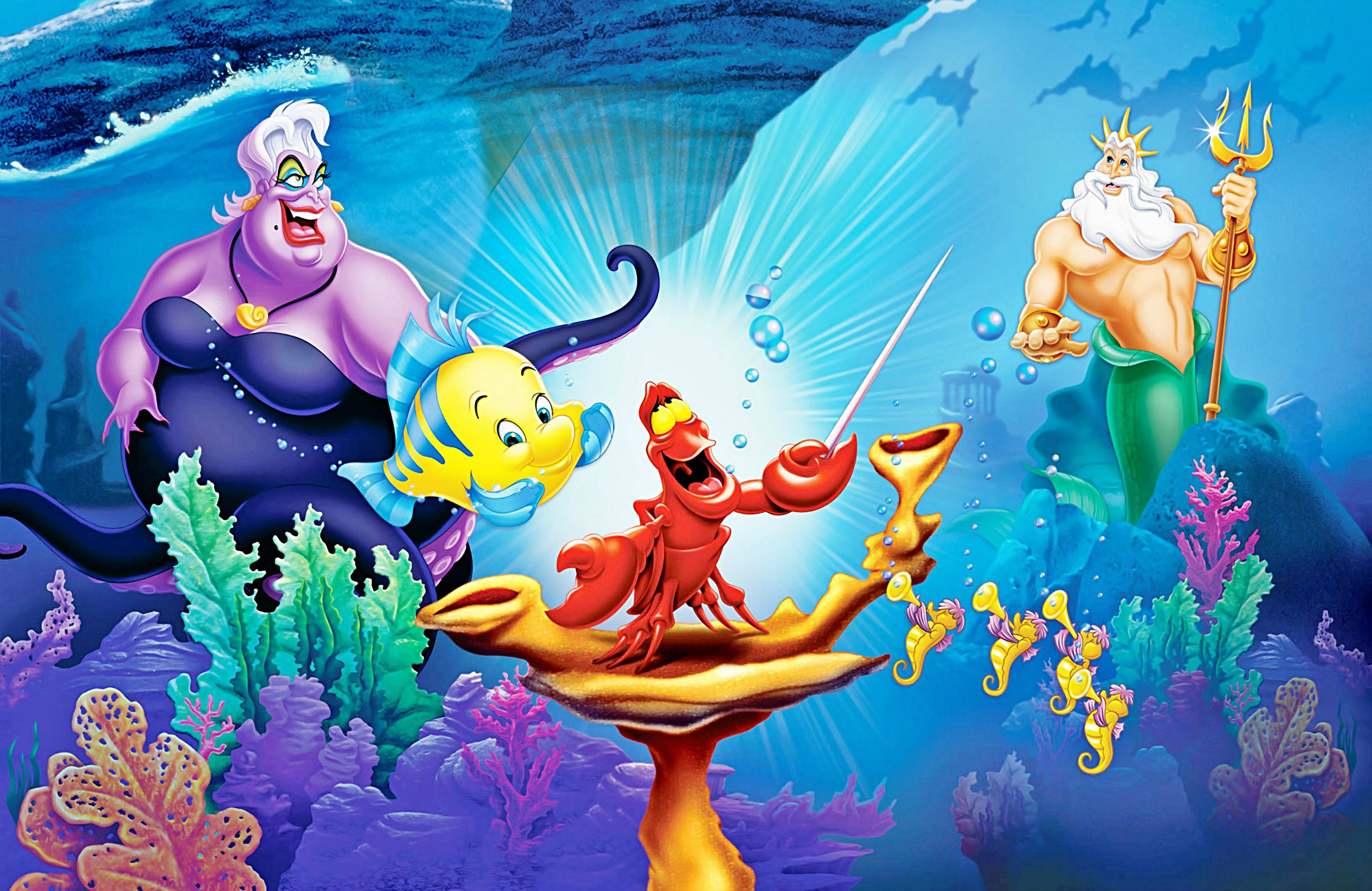 Little Mermaid Disney Fantasy Animation Cartoon Adventure Family 1litt...