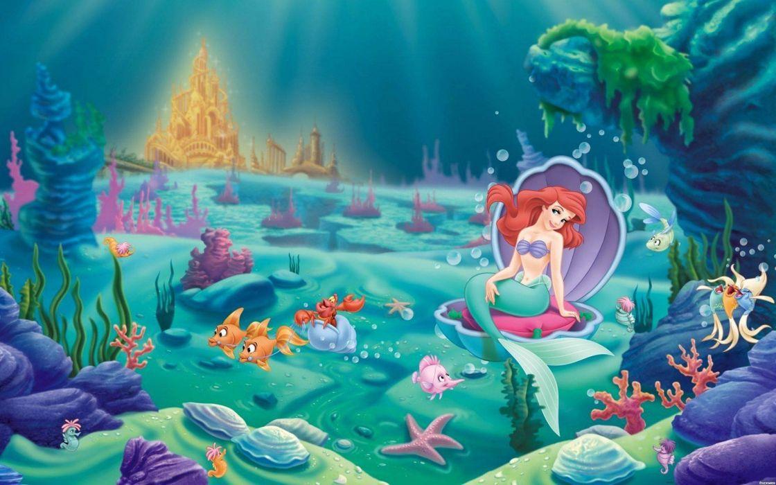 LITTLE MERMAID disney fantasy animation cartoon adventure family 1littlemermaid ariel princess ocean sea underwater wallpaper