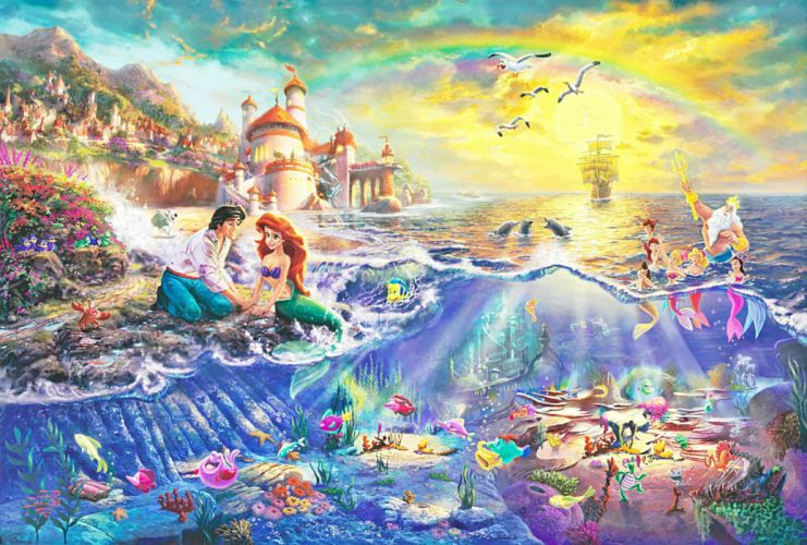 LITTLE MERMAID disney fantasy animation cartoon adventure family 1littlemermaid ariel princess ocean sea wallpaper