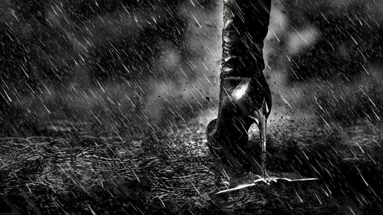 HEROES - rain catwoman heels batman dark Knight Rises wallpaper