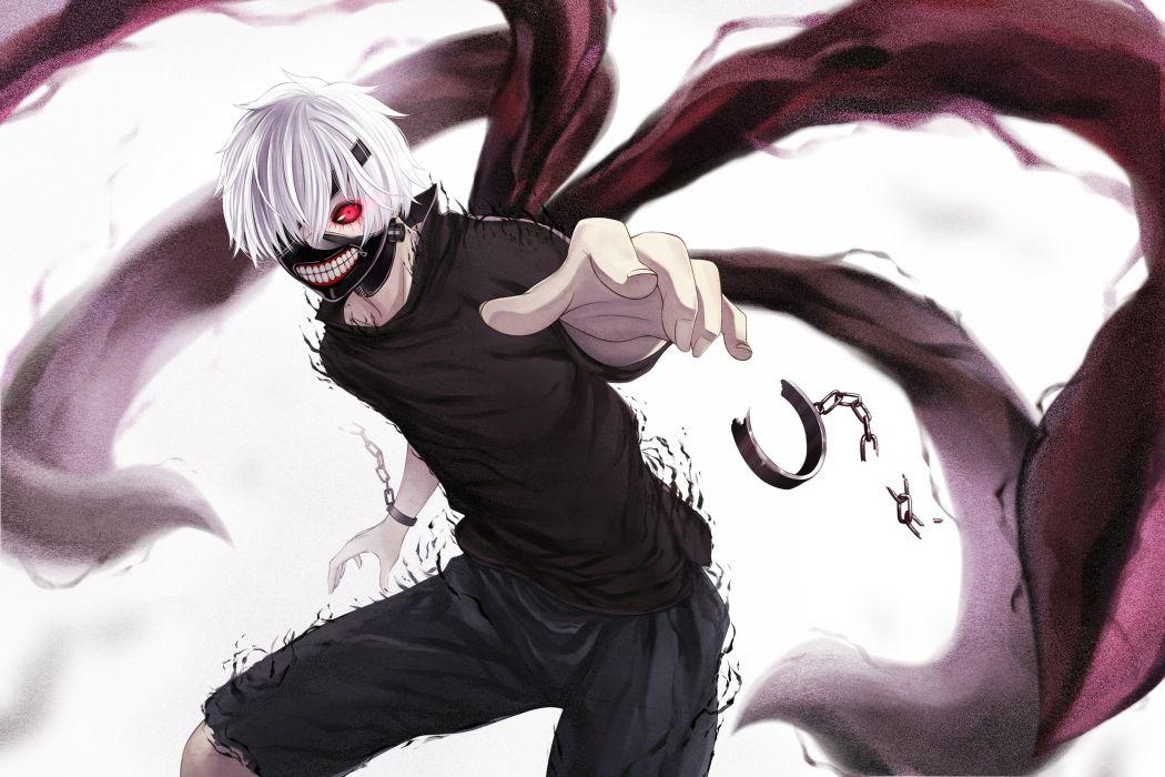 Anime tokyo ghoul kaneki ken Chain Eye patch Guys wallpaper