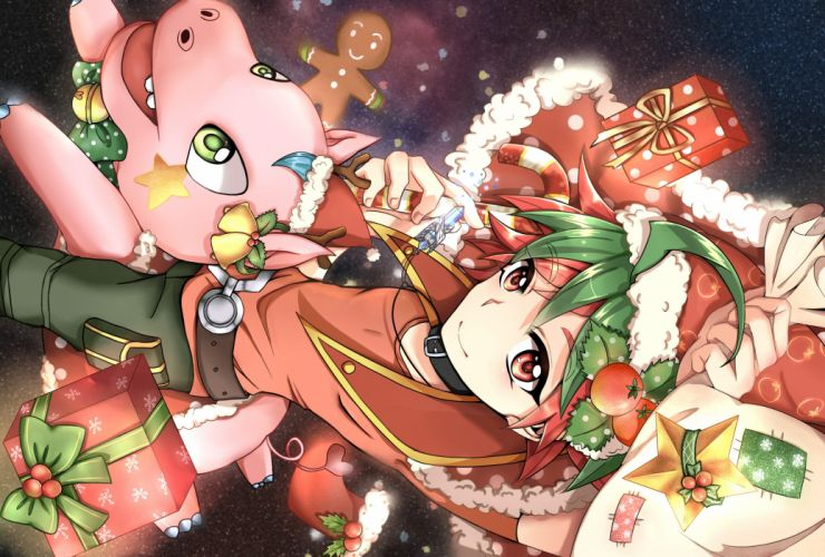 ARC-V Yu-Gi-Oh Entermate Discover Hippo Sakaki Yuya Christmas Outfit wallpaper