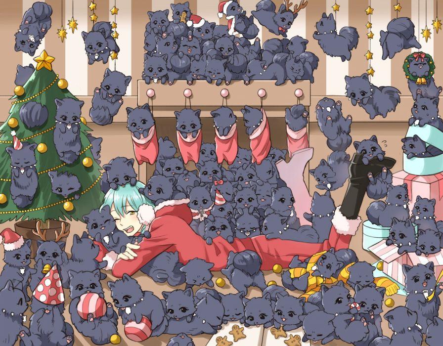 DRAMAtical Murder Ren (DMMd) Seragaki Aoba Gift Christmas Hat wallpaper