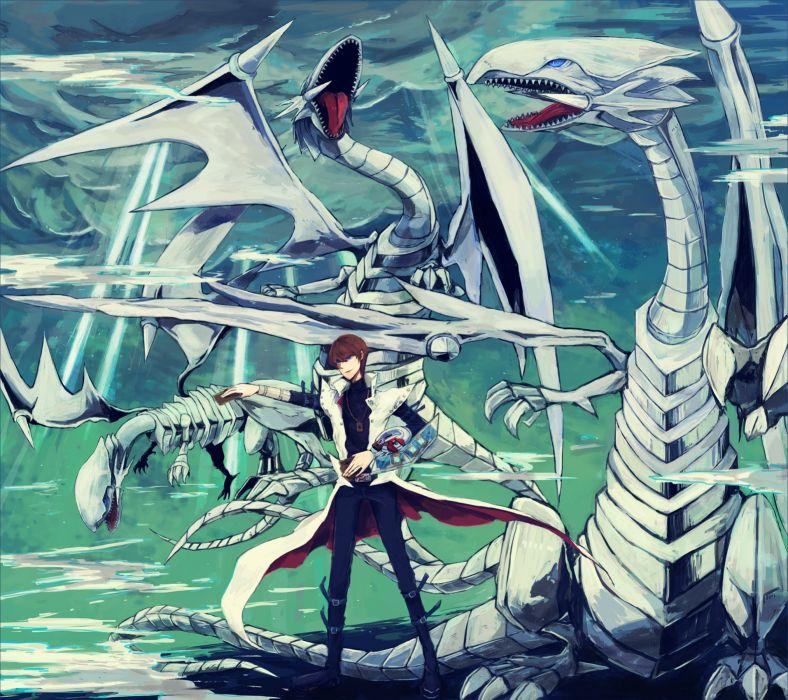 Duel Monsters Yu-Gi-Oh Kaiba Seto Blue Eyes White Dragon Dragon wallpaper