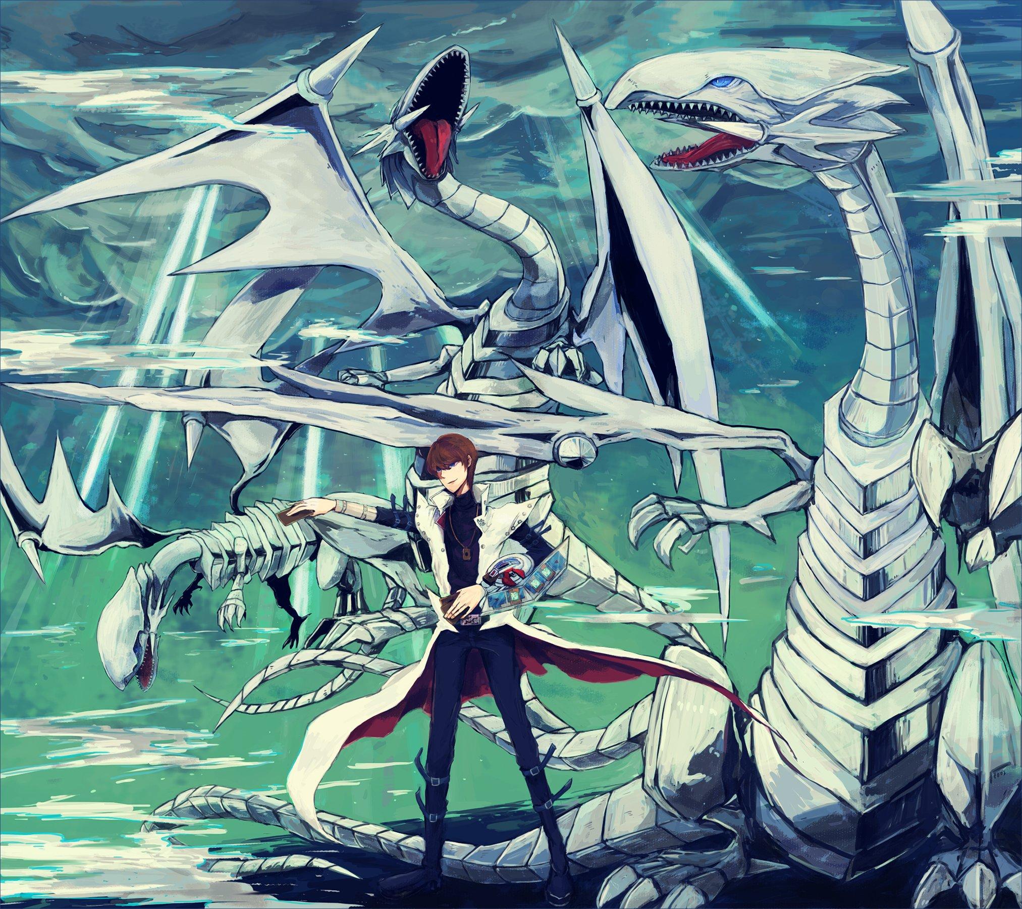 duel monsters yu gi oh kaiba seto blue eyes white dragon dragon