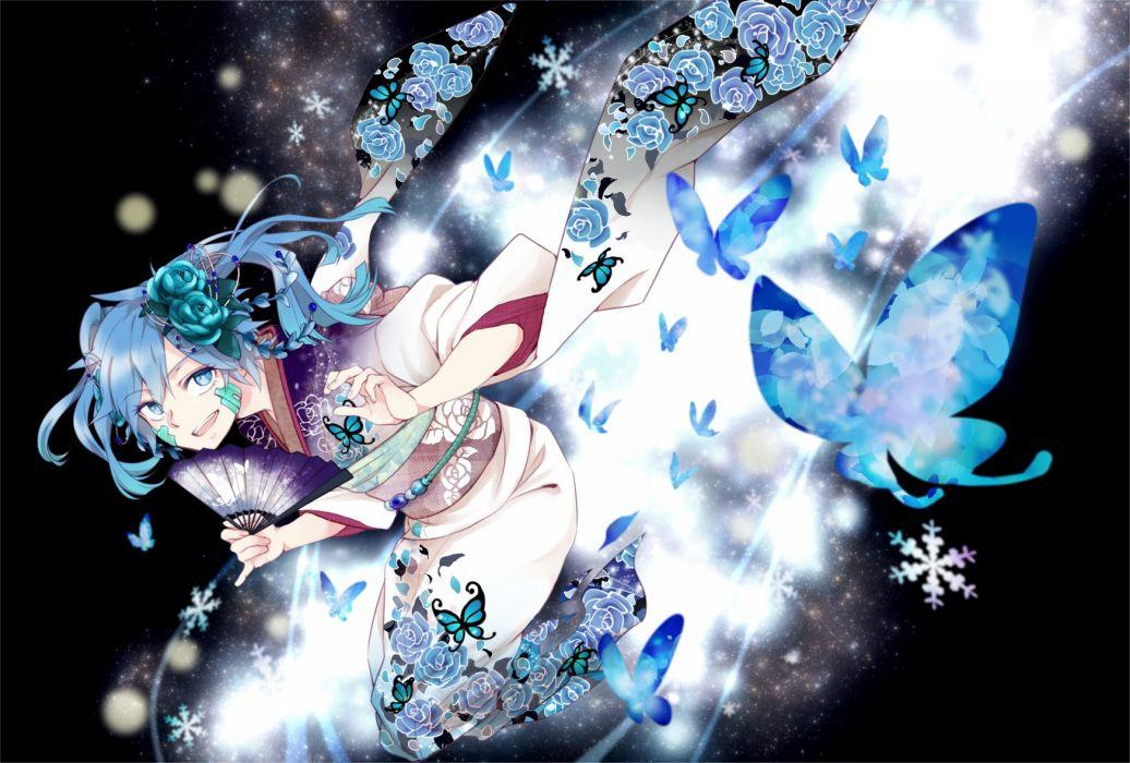 Kagerou Project Enomoto Takane Snowflakes wallpaper