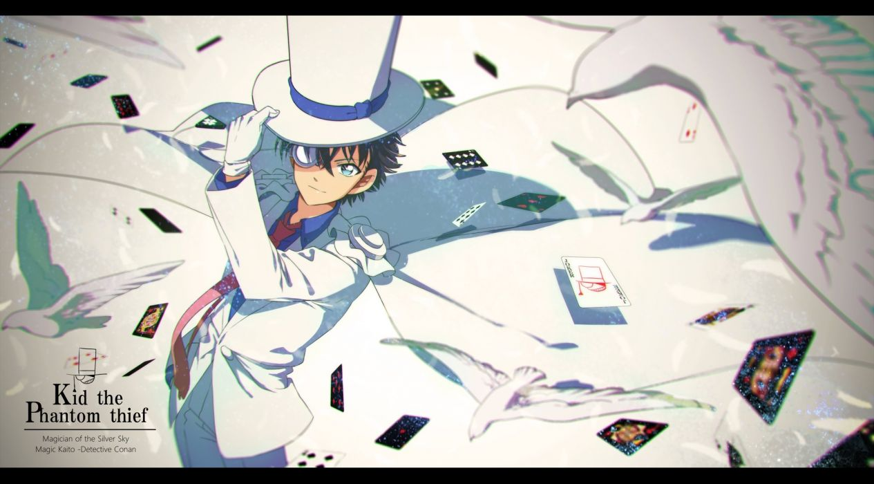 Kuroba Kaito Kaitou Kid Light Background Card wallpaper