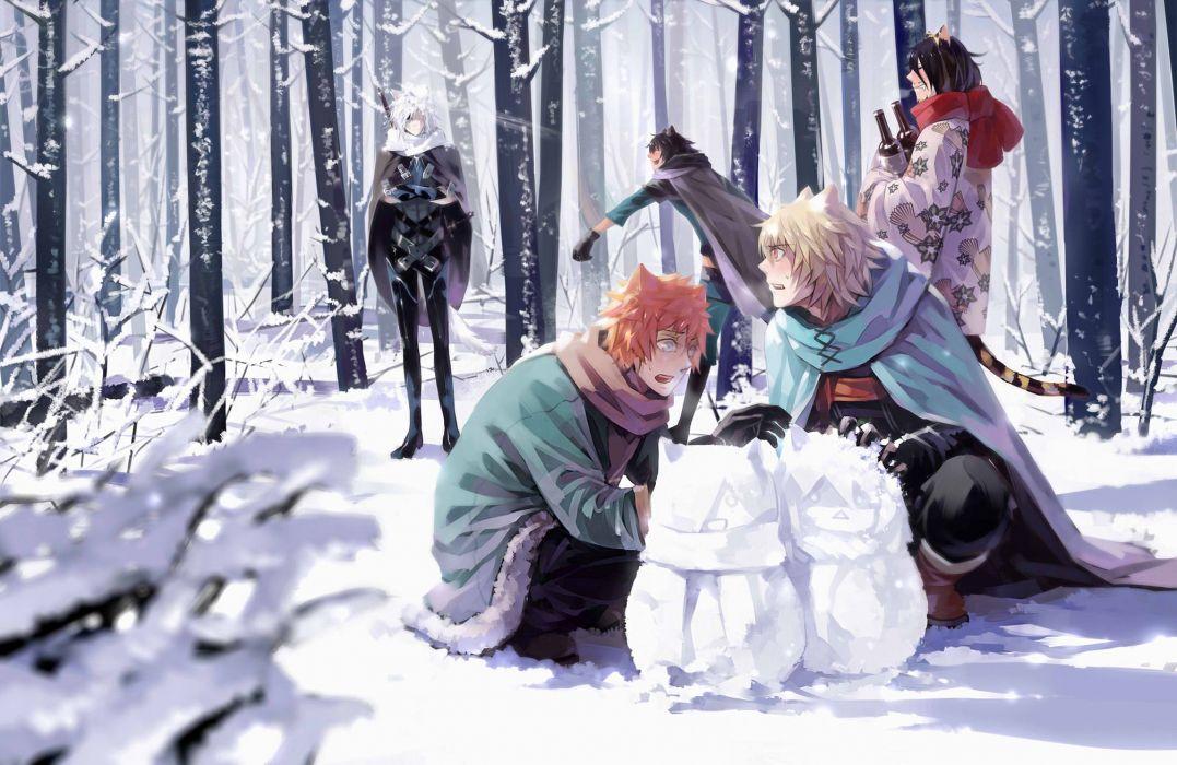 Lamento RAI Asato (Lamento) Konoe Tokino winter wallpaper