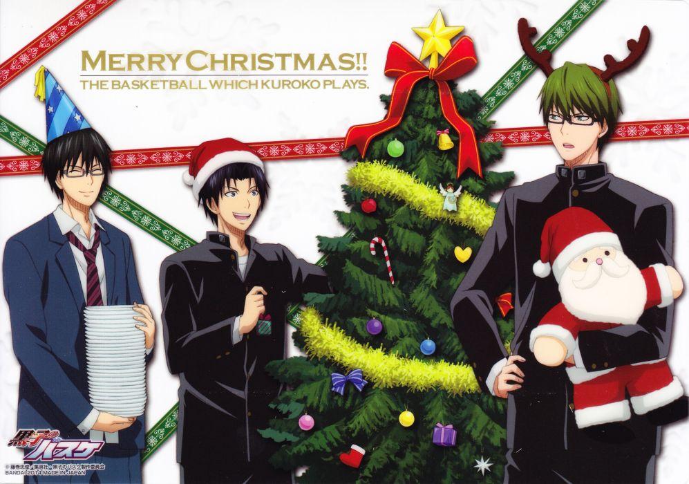 Kuroko no Basuke Santa Claus Imayoshi Shouichi Midorima Shintarou Takao Kazunari christmas wallpaper