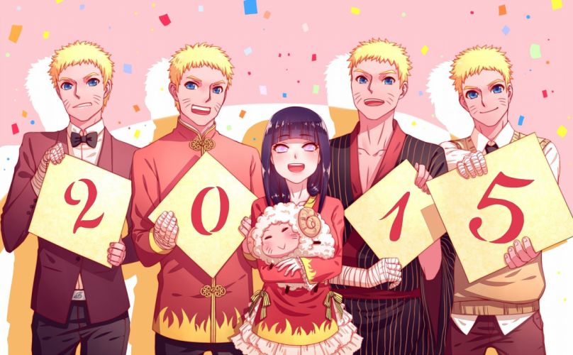 NARUTO Uzumaki Naruto Hyuuga Hinata Red Outerwear Sheep wallpaper