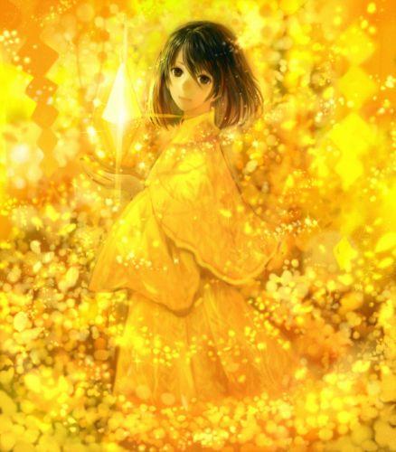 Sakimori Yellow bokeh mood original wallpaper