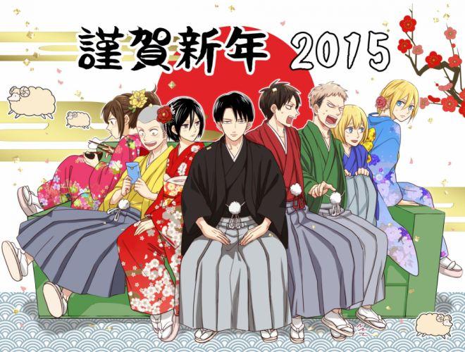 Shingeki no Kyojin Sasha Braus Mikasa Ackerman Annie Leonhardt Conny Springer wallpaper