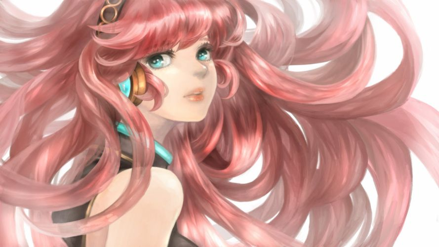 Vocaloid Megurine Luka Exposed Shoulders Looking to Side Wind wallpaper