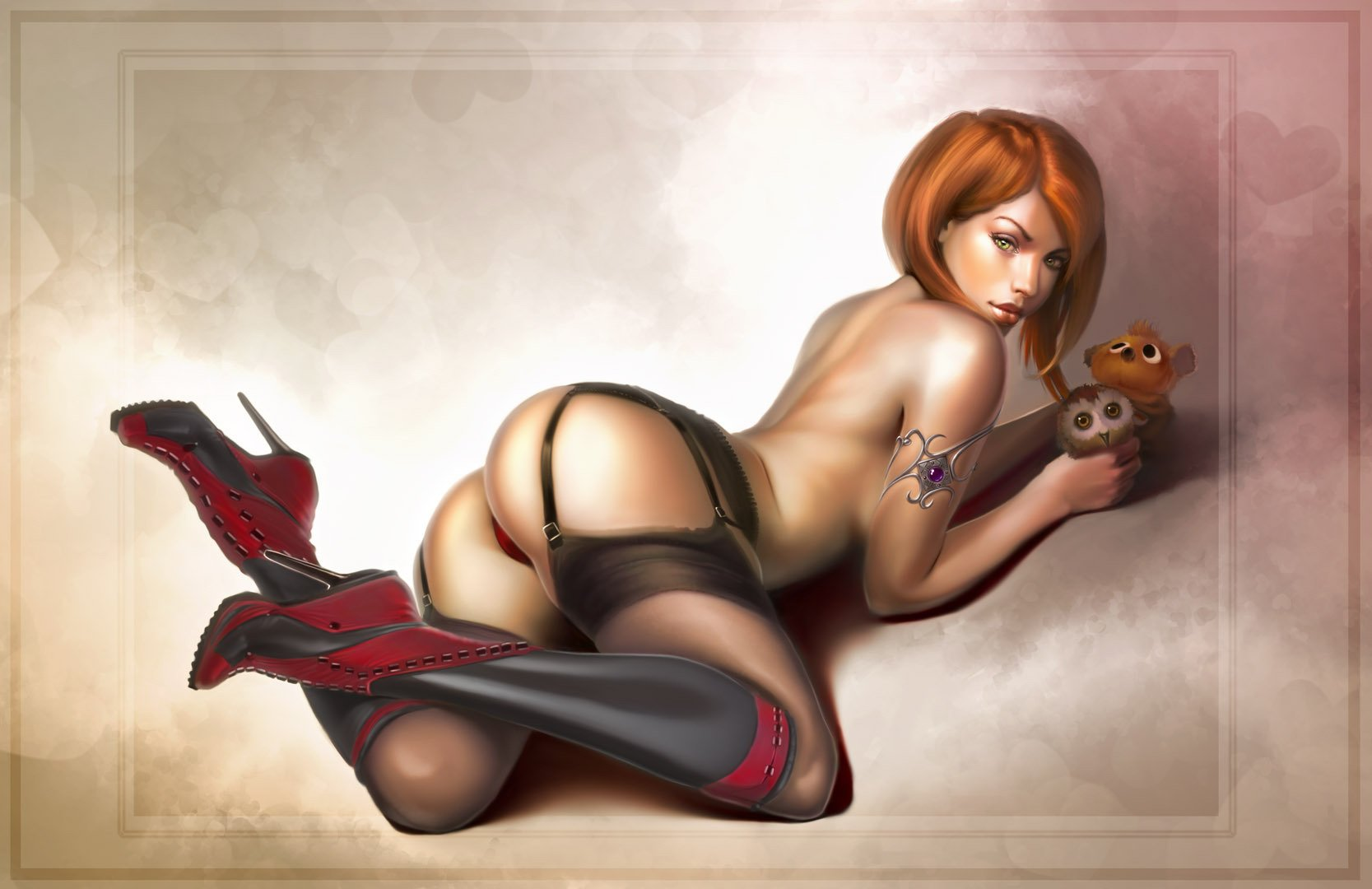 Artwork Pinup Girl Pulsarmedia Wallpaper Wallpaper