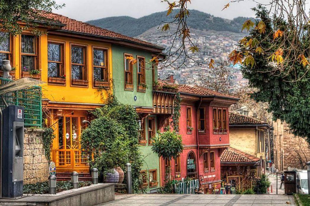 color house bursa turkey tree city wallpaper