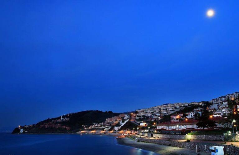 bursa turkey beautiful blue moon landscape sea wallpaper
