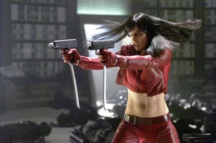ULTRAVIOLET action sci-fi fighting futuristic superhero milla jovovich action horror thriller 1ultraviolet warrior weapon gun pistol wallpaper