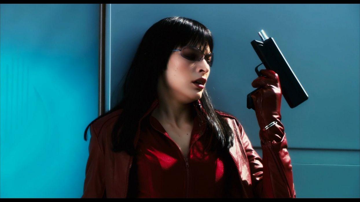 ULTRAVIOLET action sci-fi fighting futuristic superhero milla jovovich action horror thriller 1ultraviolet warrior weapon gun pistolsword katana wallpaper