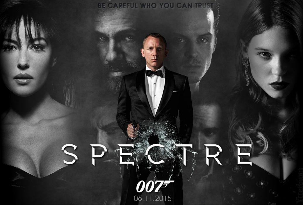 SPECTRE BOND 24 james action spy crime thriller mystery 1spectre 007 poster wallpaper