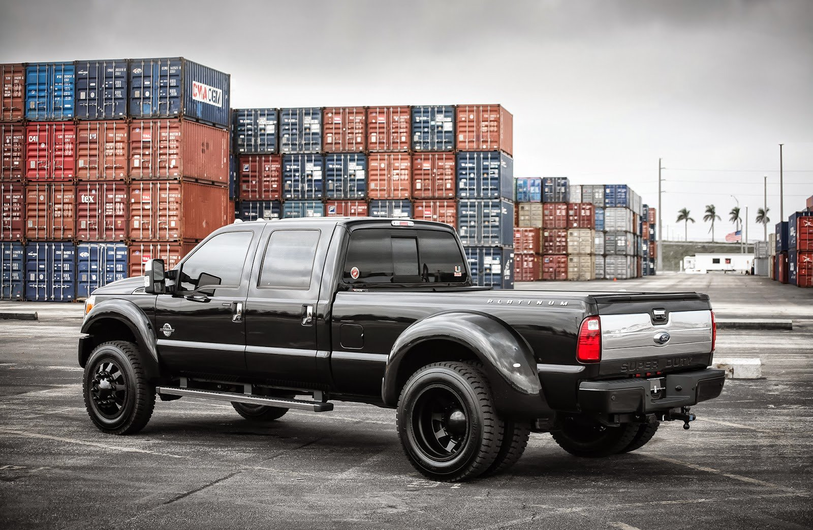 Ford F350 super Duty truck pickup cars black tuning wallpaper   1600x1042   577691   WallpaperUP