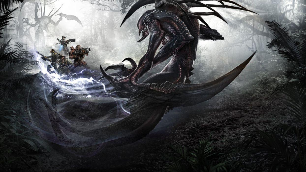 Evolve Wraith vs Hunters fan art wallpaper wallpaper