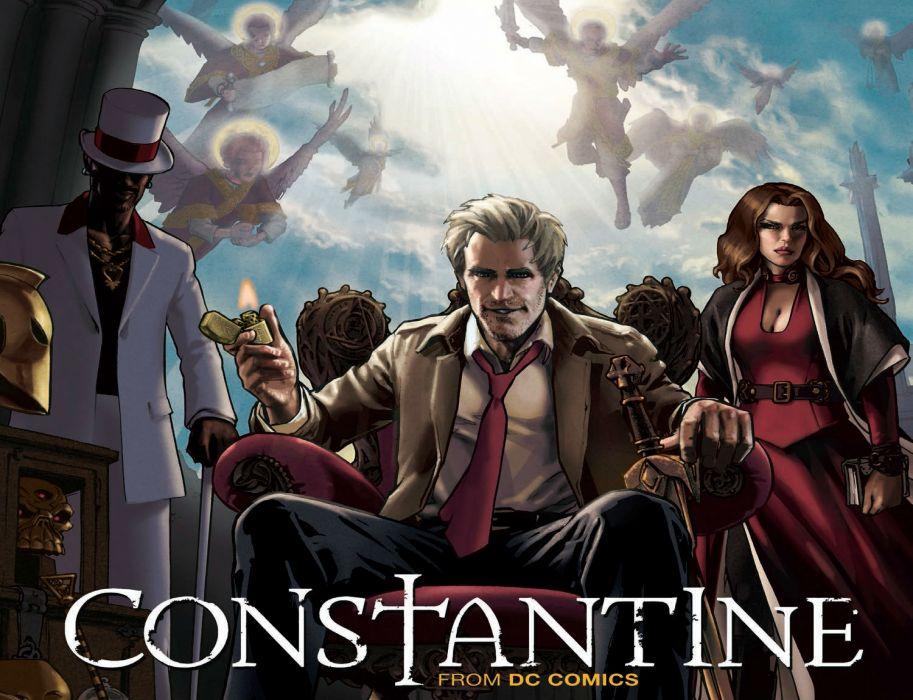 CONSTANTINE dc-comics d-c comics series occult horror supernatural drama fantas 1constantine poster wallpaper