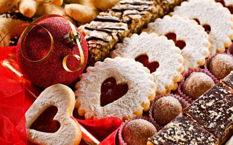 Christmas ornament cookies food chocolate wallpaper