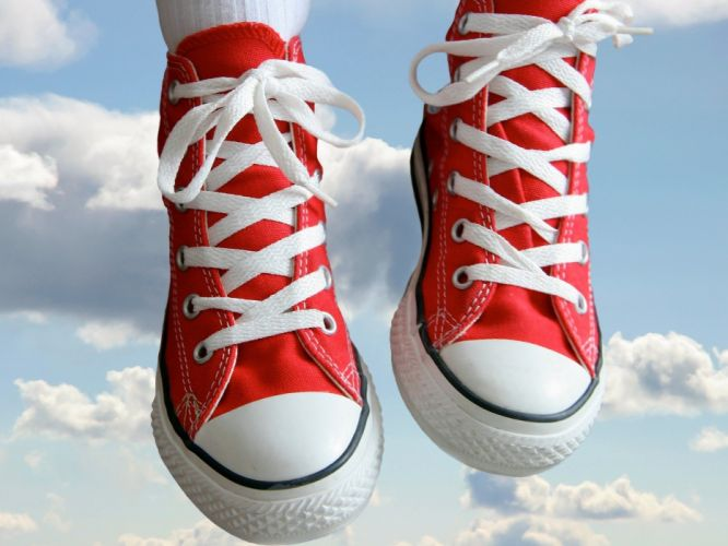 mood red fly sky cloud shoes wallpaper
