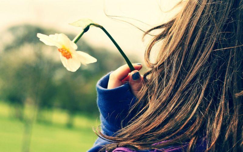 mood flower broken girl hair wallpaper