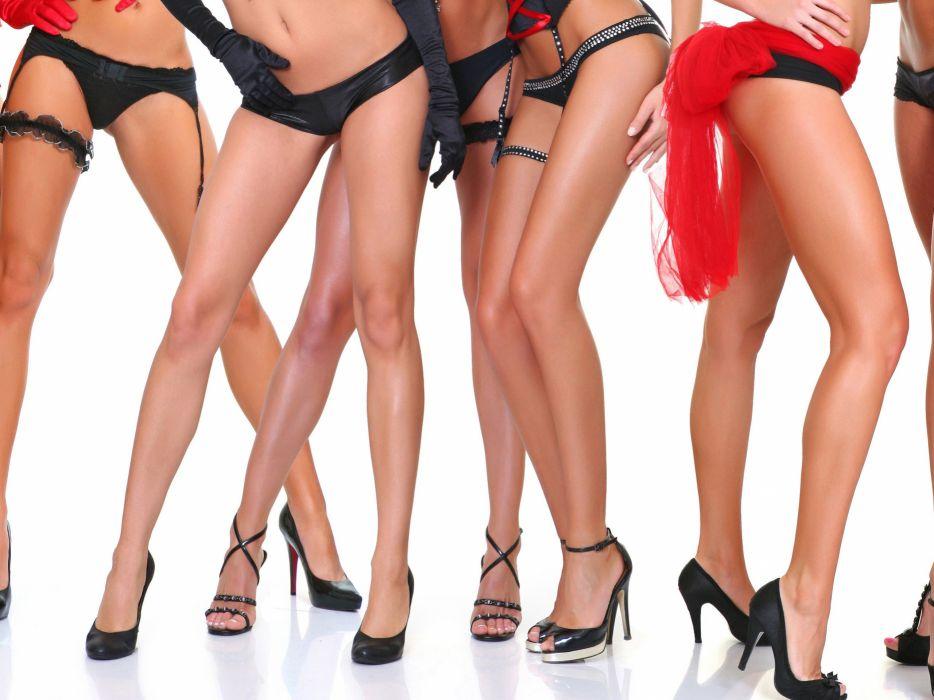 SENSUALITY - legs multiple girls shoes wallpaper
