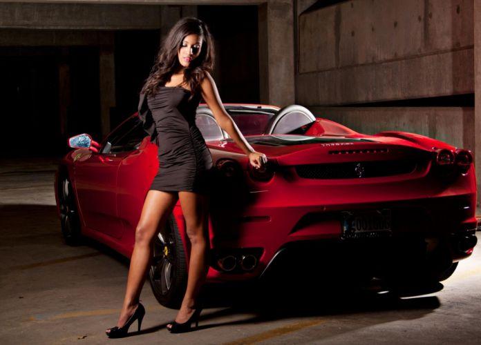 WOMEN AND MACHINES - girl brunette car model wallpaper