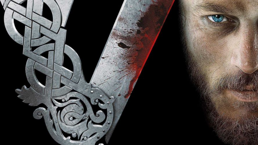 VIKINGS action drama history fantasy adventure series 1vikings viking warrior blood wallpaper